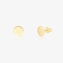 Load image into Gallery viewer, Gold Small Disc Earrings - Pair - estellacollection