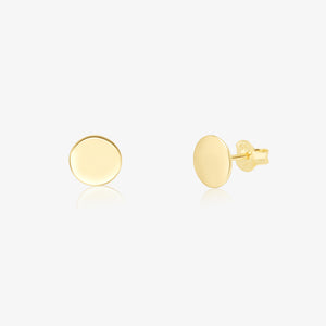 Gold Small Disc Earrings - Pair - estellacollection