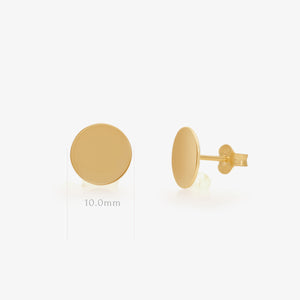 Lara - Gold Disc Studs - estellacollection