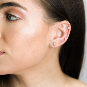 Lara - Micro Pave Triangle Studs - estellacollection