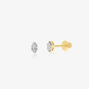 Petite Diamond And Gold Upper Piercing Studs - estellacollection