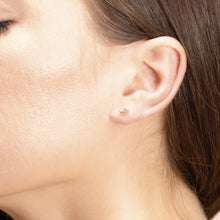 Load image into Gallery viewer, Petite Diamond and Gold Upper Piercing Studs