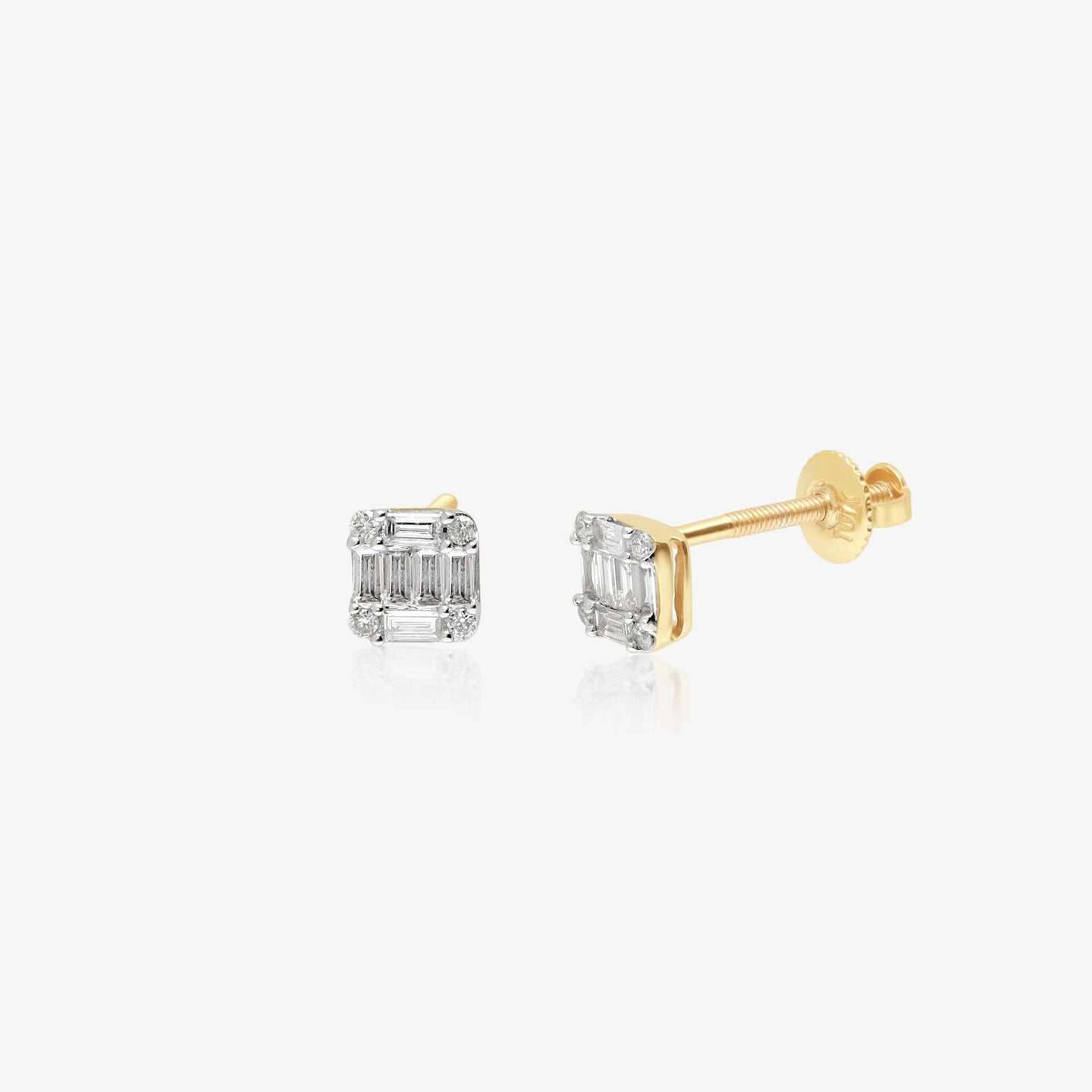 Diamond And Gold Earring - estellacollection