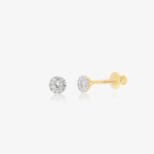 Dainty Diamond And Gold Cluster Studs - estellacollection