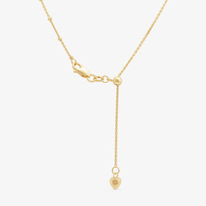 Chic Adjustable Beaded Layer Chain in 14k Yellow Gold