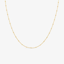 Load image into Gallery viewer, Chic Adjustable Beaded Layer Chain in 14k Yellow Gold