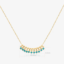 Load image into Gallery viewer, Turquoise Fringe Bar Necklace - estellacollection