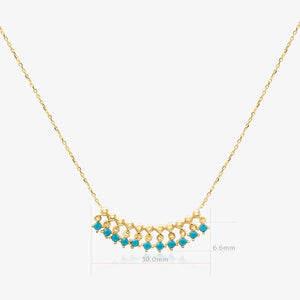 Turquoise Fringe Bar Necklace - estellacollection