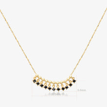 Load image into Gallery viewer, Black Bead Fringe Necklace - estellacollection