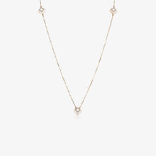 "Load image into Gallery viewer, 38"" Long Diamond And Pearl Stacking Necklace 14K Rose Gold"