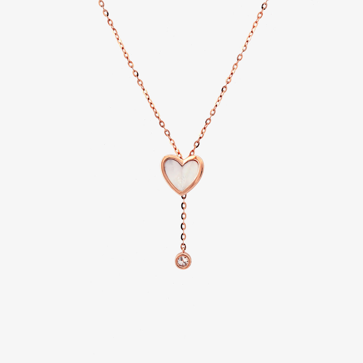 Heart Shape Pearl And Diamond Lariat Necklace - estellacollection