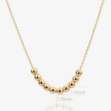 Load image into Gallery viewer, 10K Solid Gold Beaded | Layering | Statement Necklace - estellacollection