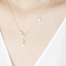 Load image into Gallery viewer, 14K Solid Gold Lariat-Style Necklace