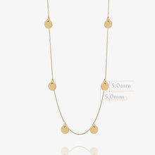 Load image into Gallery viewer, 14K Solid Gold Layering Disc Coin Necklace - estellacollection