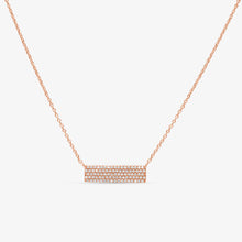 Load image into Gallery viewer, Diamond Studded 5-Row Bar Pendant Layer Necklace - estellacollection