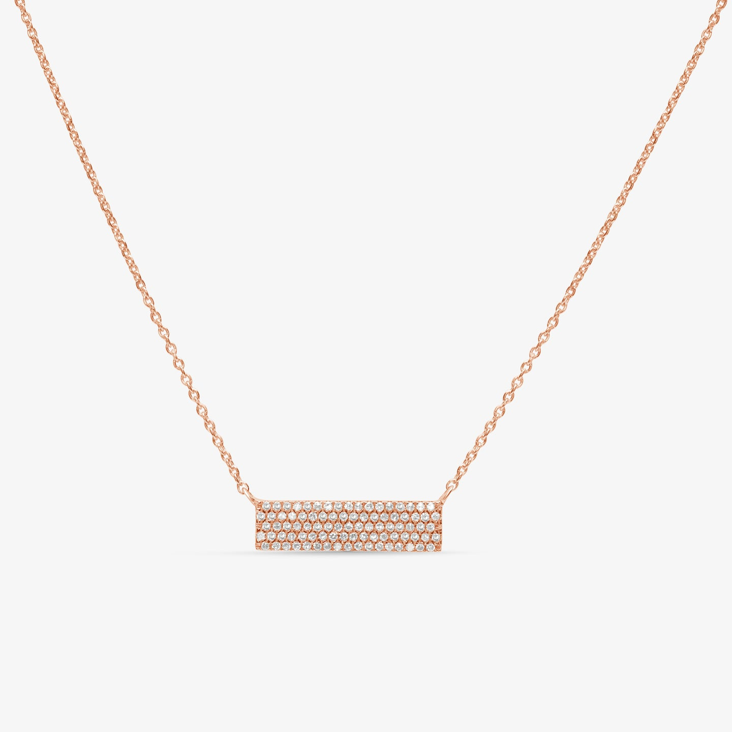 Diamond Studded 5-Row Bar Pendant Layer Necklace - estellacollection