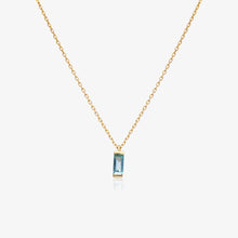 Load image into Gallery viewer, Blue Baguette Pendant Necklace - estellacollection