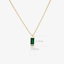 Load image into Gallery viewer, Green Baguette Pendant Necklace - estellacollection