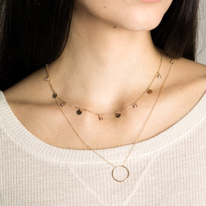 Lara - Eternity Circle Pendant Necklace - estellacollection