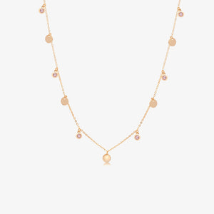 "14K Rose Gold Layering Choker Necklace (16"" long)"