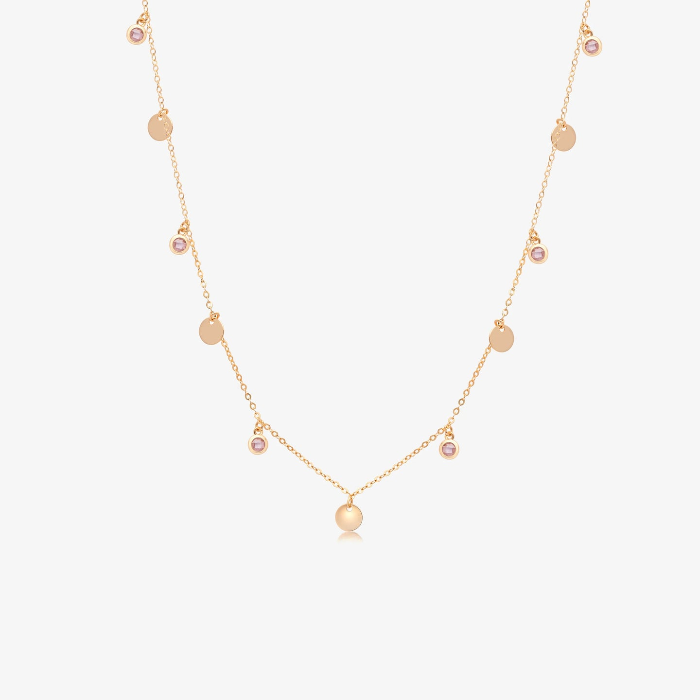 14K Rose Gold Layering Choker Necklace (16
