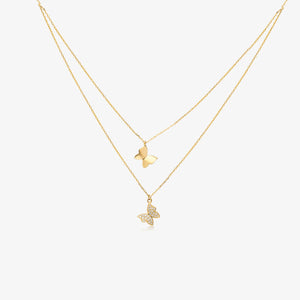 Lara - Layering Butterfly Necklace - estellacollection