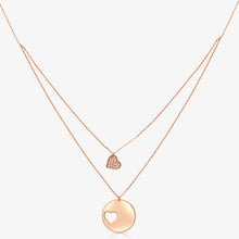 Load image into Gallery viewer, Gold Double Heart Layering Necklace - estellacollection