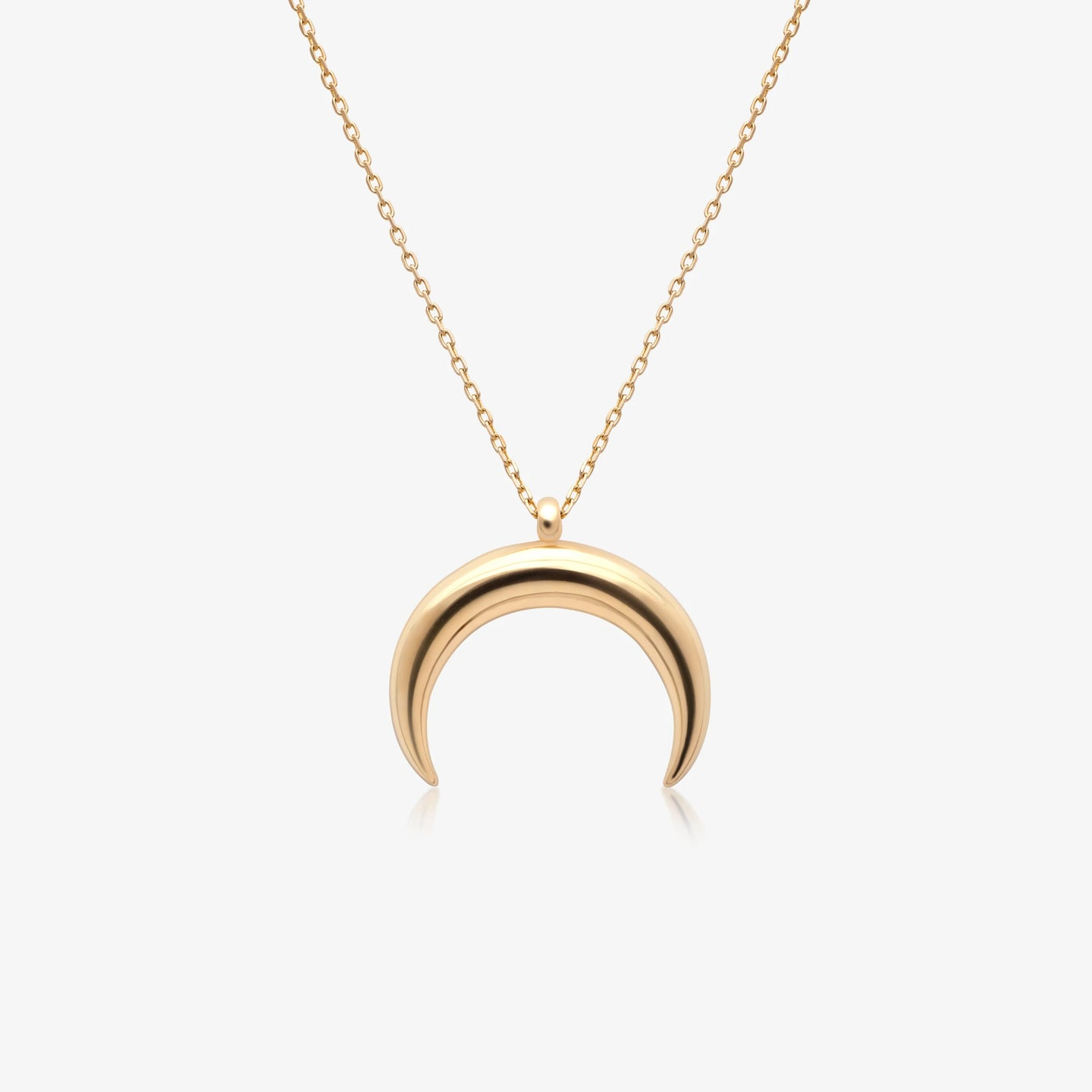 Lara - Gold Crescent Moon Pendant Necklace - estellacollection
