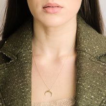 Load image into Gallery viewer, Lara - Gold Crescent Moon Pendant Necklace - estellacollection