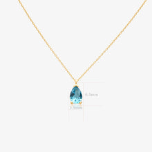 Load image into Gallery viewer, Blue Pear Shape Pendant Necklace - estellacollection
