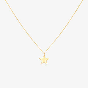 Lucky Star Solitaire Pendant Necklace - estellacollection