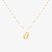 Load image into Gallery viewer, Baby Feet Pendant Necklace With Adjustable Gold Chain - estellacollection