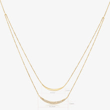 Load image into Gallery viewer, Double Crescent Necklace - estellacollection