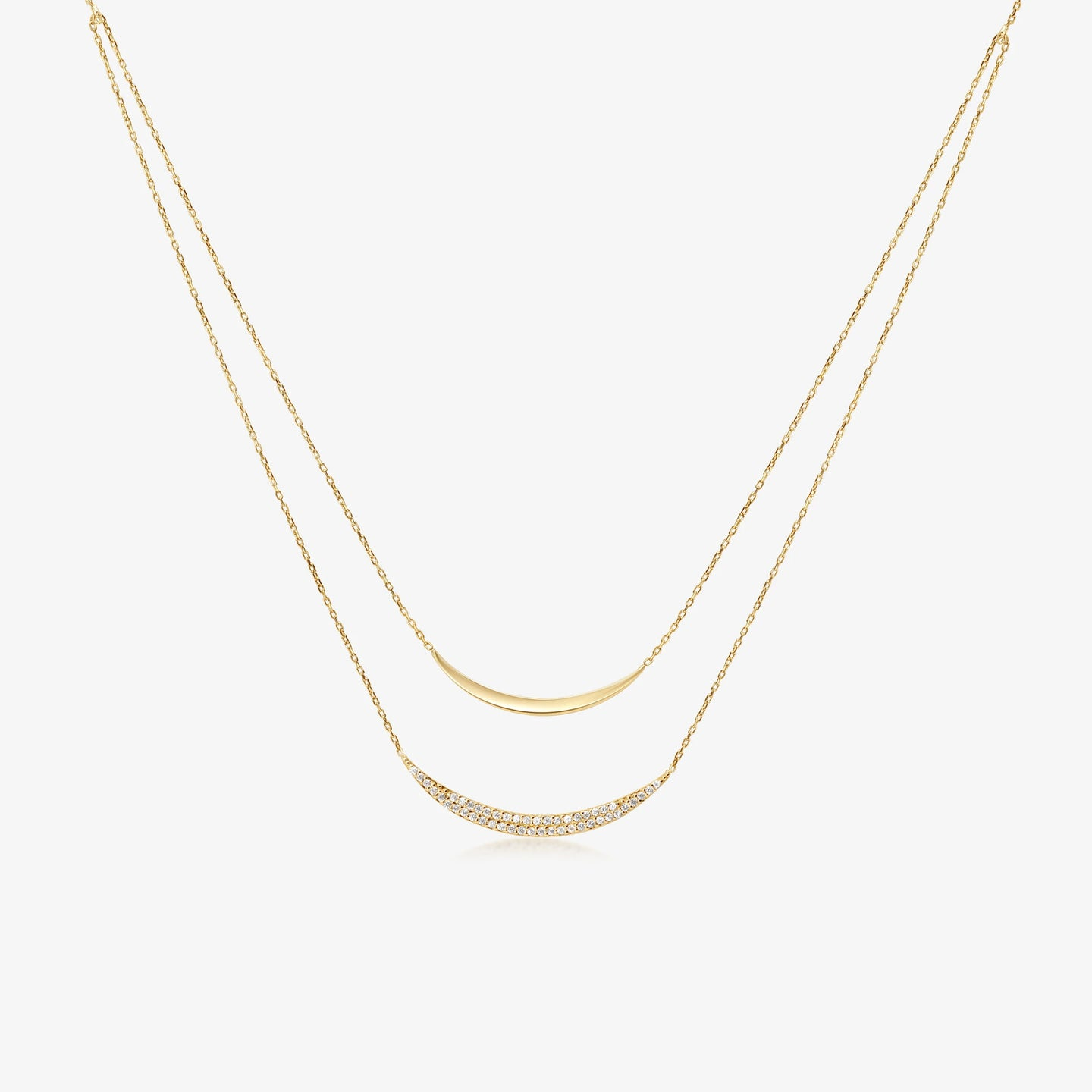 Double Crescent Necklace - estellacollection