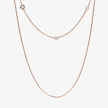 Load image into Gallery viewer, Birthstone Amethyst Gemstone Teardrop Pendant Necklace 14K Rose Gold with Adjustable Chain