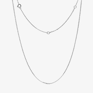 Diamond Disc Pendant And Chain