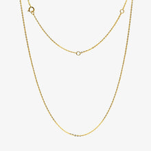 "Load image into Gallery viewer, 14K Gold Blue Baguette Pendant Necklace 16""-20"""