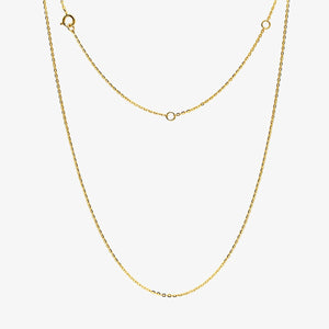 14K Solid Gold Lariat-Style Necklace
