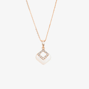 Laila - Pearl And Diamond Pendant Necklace - estellacollection