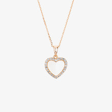 Load image into Gallery viewer, Laila - Pearl And Diamond Heart Pendant Necklace - estellacollection