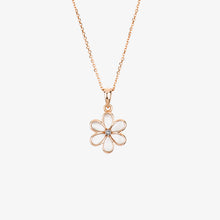 Load image into Gallery viewer, Laila - Pearl And Diamond Flower Necklace - estellacollection