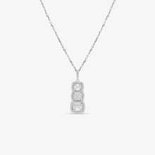 Load image into Gallery viewer, 3 Stone Journey Pendant With Baguette And Round Diamonds - estellacollection