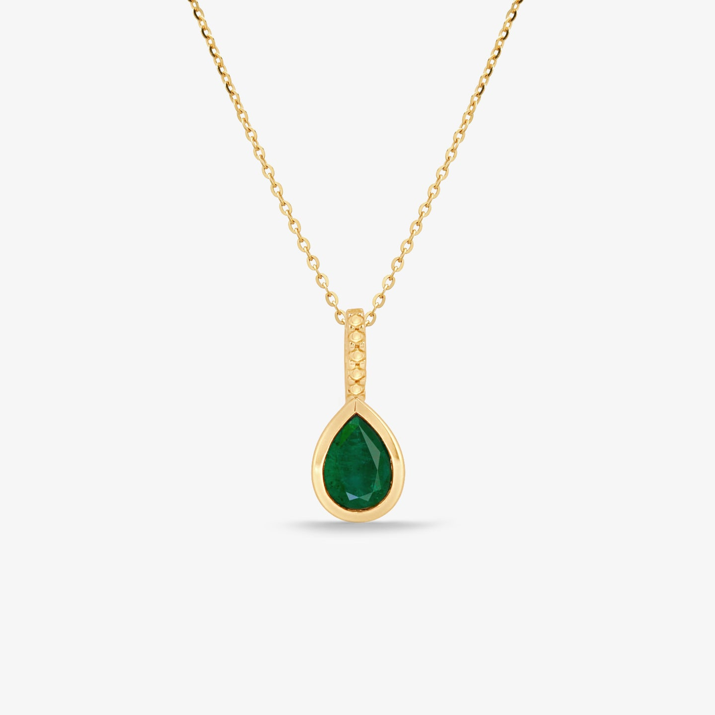 Green Agate Gem Stone Pendant Necklace With Adjustable Gold Chain - estellacollection