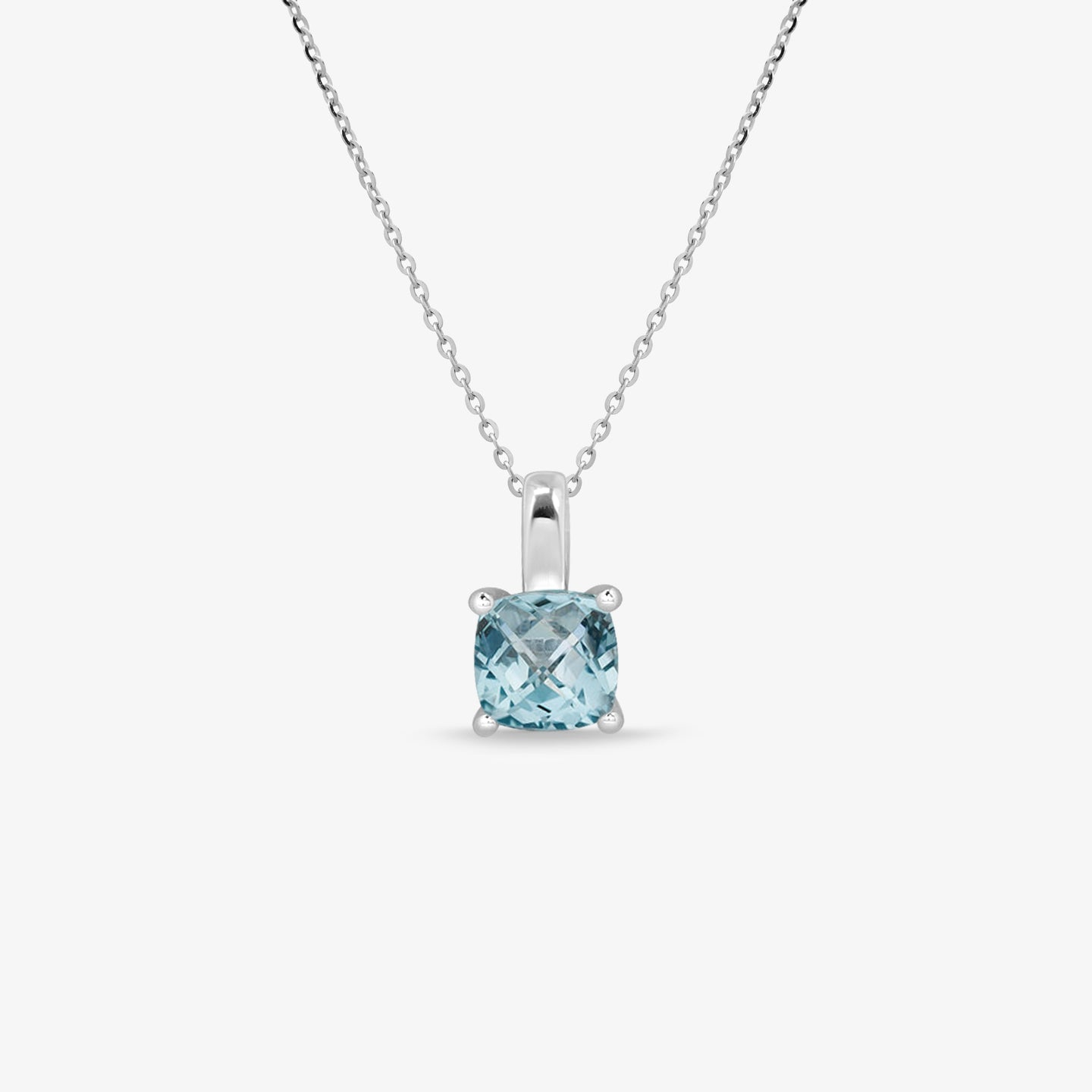 Blue Topaz Gemstone Pendant With Adjustable Gold Chain - estellacollection
