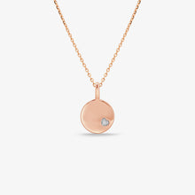 Load image into Gallery viewer, Diamond Disc Pendant And Chain - estellacollection