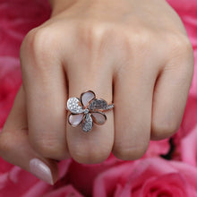 Load image into Gallery viewer, Laila - Diamond Flower Ring In Gold And Pearls