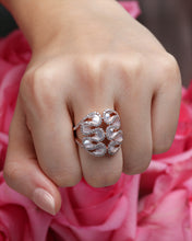 Load image into Gallery viewer, Diamond Statement Ring With Mother Of Pearl