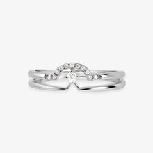 Load image into Gallery viewer, Gold And Diamond Layering Band Ring - estellacollection