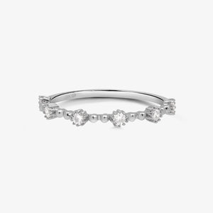 Diamond Fashion Half Eternity Band - estellacollection