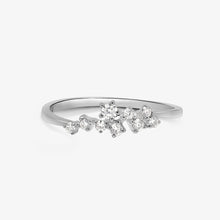 Load image into Gallery viewer, Asymmetrical Design Diamond And Gold Stacking Ring - estellacollection